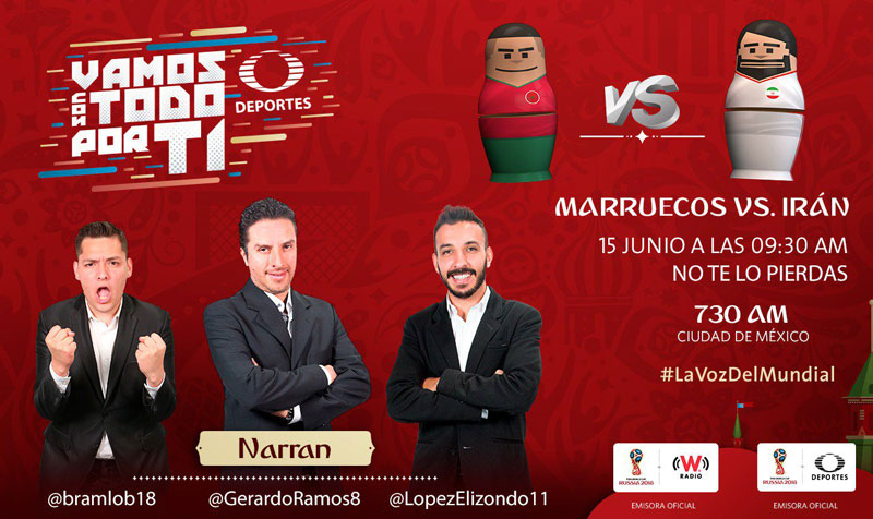 Marruecos vs Irán, Grupo B del Mundial 2018 ¡En vivo por internet! - marruecos-vs-iran-por-radio-2018