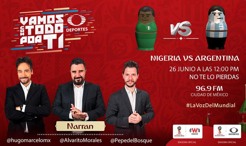 Nigeria vs Argentina en el Mundial 2018 ¡En vivo por internet! - nigeria-vs-argentina-por-radio
