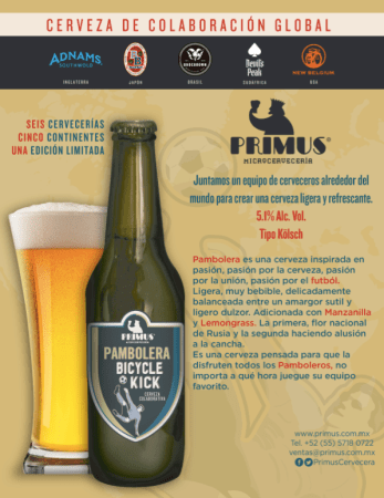 Pambolera, Bicycle Kick: cerveza de colaboración global con cervecerías del mundo