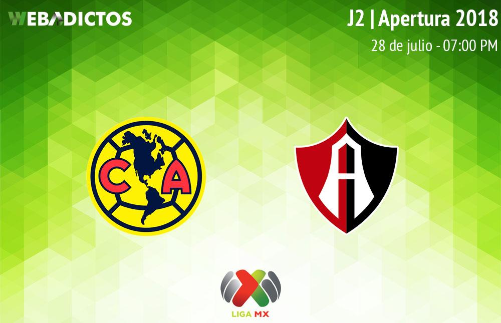 América vs Atlas, J2 de la Liga MX Apertura 2018 ¡En vivo por internet! - america-vs-atlas-apertura-2018