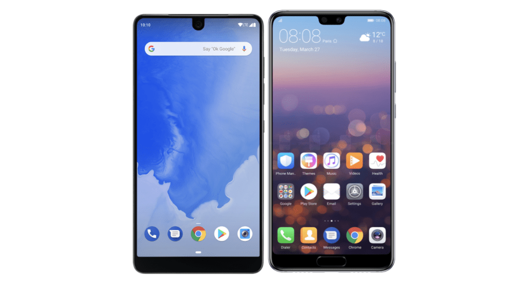 "Google pone orden: dispositivos Android podrán tener hasta dos ""notch"" - android-phones-with-notch"