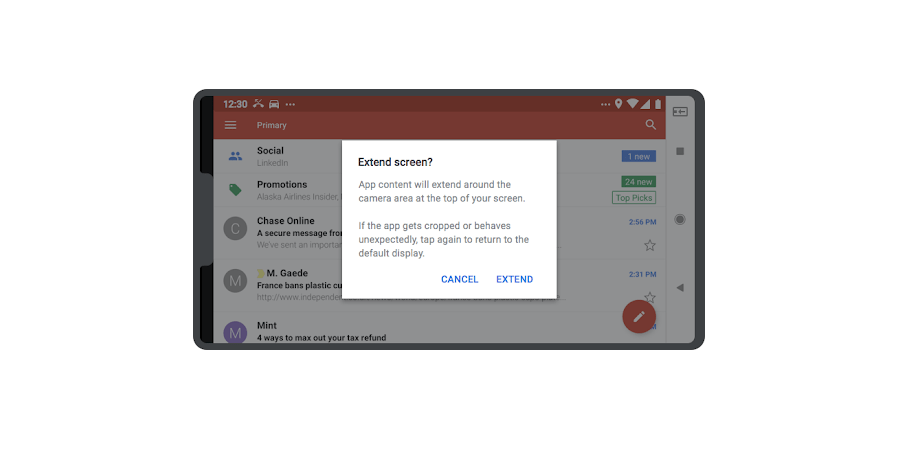 "Google pone orden: dispositivos Android podrán tener hasta dos ""notch"" - app-adjustment"