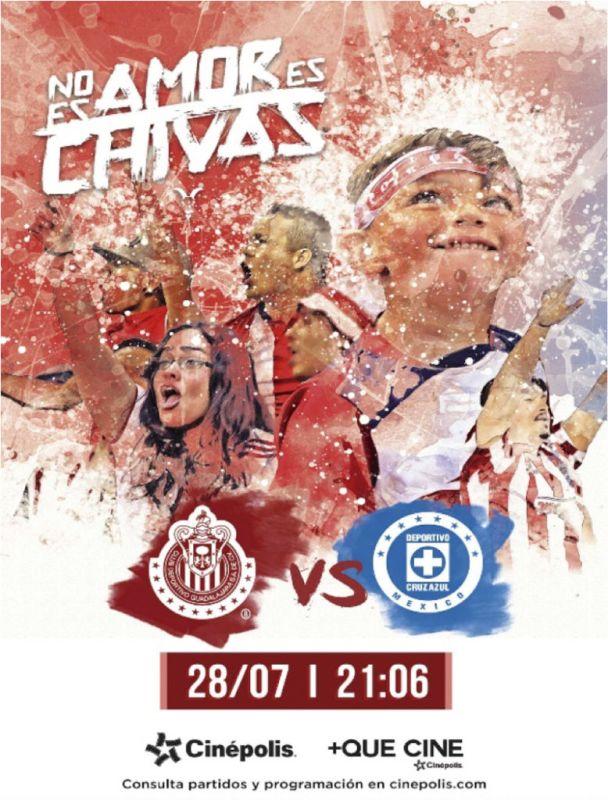 Cinépolis transmitirá los partidos del Club Chivas - chivas-cinepolis-608x800
