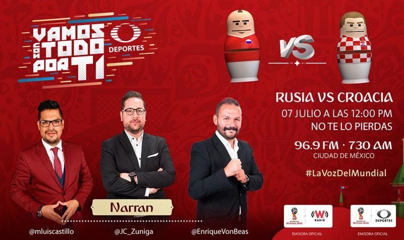 Rusia vs Croacia, Cuartos de final Rusia 2018 ¡En vivo por internet! - croacia-vs-rusia-por-radio-mundial-2018