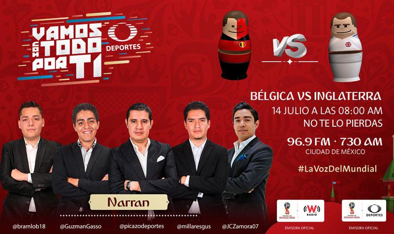 Bélgica vs Inglaterra, Tercer lugar del mundial 2018 ¡En vivo por internet! - inglaterra-vs-belgica-por-radio-mundial-2018