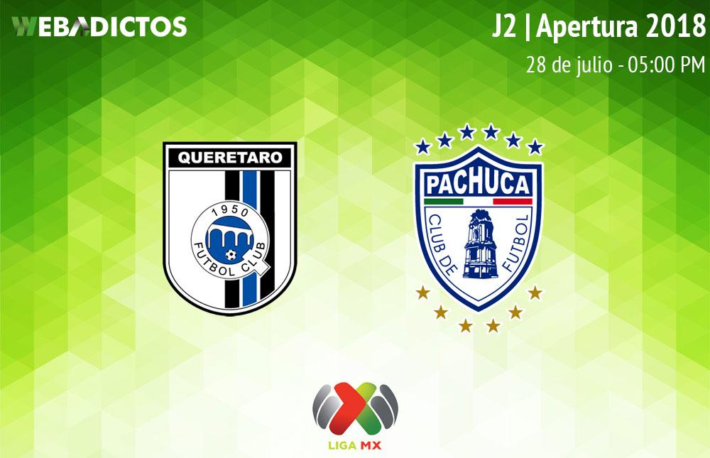 Querétaro vs Pachuca, Jornada 2 Apertura 2018 ¡En vivo por internet! - queretaro-vs-pachuca-apertura-2018