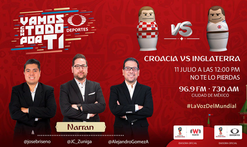 Croacia vs Inglaterra, Semifinal del Mundial 2018 ¡En vivo por internet! - semifinal-croacia-vs-inglaterra-por-radio-mundial-2018