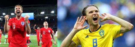 Suecia vs Inglaterra en el Mundial Rusia 2018 ¡En vivo por internet!