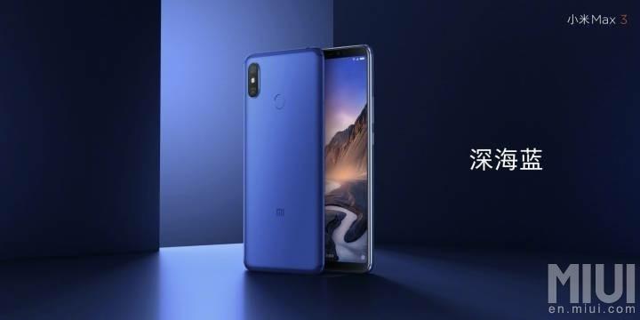 El Xiaomi Mi Max 3 hace honor a su nombre con enorme pantalla y batería - xmm3-blue