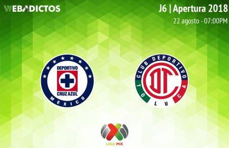 Cruz Azul vs Toluca en la J6 del Apertura 2018 ¡En vivo por internet!