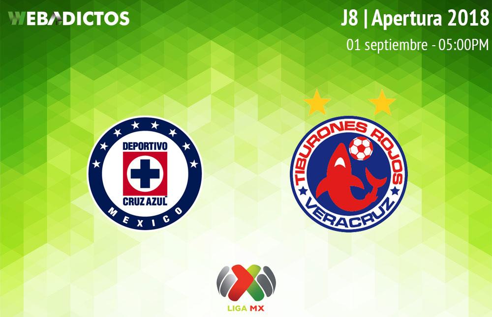 Cruz Azul vs Veracruz, Jornada 8 de Liga MX A2018 ¡En vivo por internet! - cruz-azul-vs-veracruz-apertura-2018