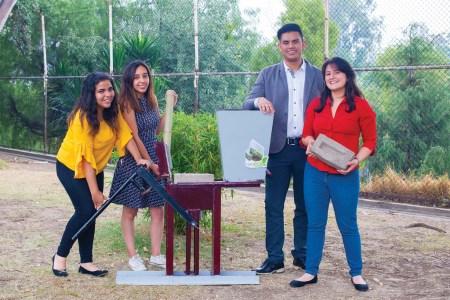 Politécnicos crean máquina para fabricar tabiques con fibra de bambú