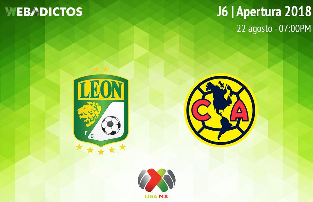 León vs América, Jornada 6 de Liga MX A2018 ¡En vivo por internet! - leon-vs-america-apertura-2018