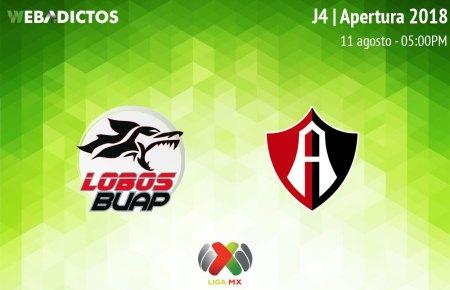 Lobos BUAP vs Atlas, Jornada 4 del Apertura 2018 ¡En vivo por internet!