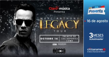 Marc Anthony en México con su Legacy Tour