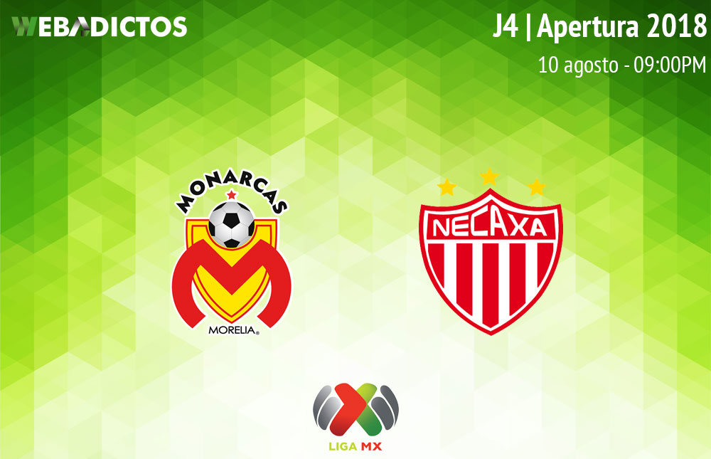 Morelia vs Necaxa en la J4 del Apertura 2018 ¡En vivo por internet! - monarcas-morelia-vs-necaxa-apertura-2018