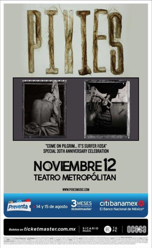 Los legendarios héroes indie: Pixies anuncian concierto en México - pixies-492x800