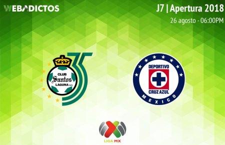 Santos vs Cruz Azul, J7 de Liga MX Apertura 2018 ¡En vivo por internet!