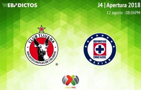 Tijuana vs Cruz Azul, Jornada 4 del Apertura 2018 ¡En vivo por internet!