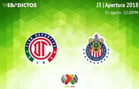 Toluca vs Chivas, Jornada 3 de la Liga MX A2018 ¡En vivo por internet!