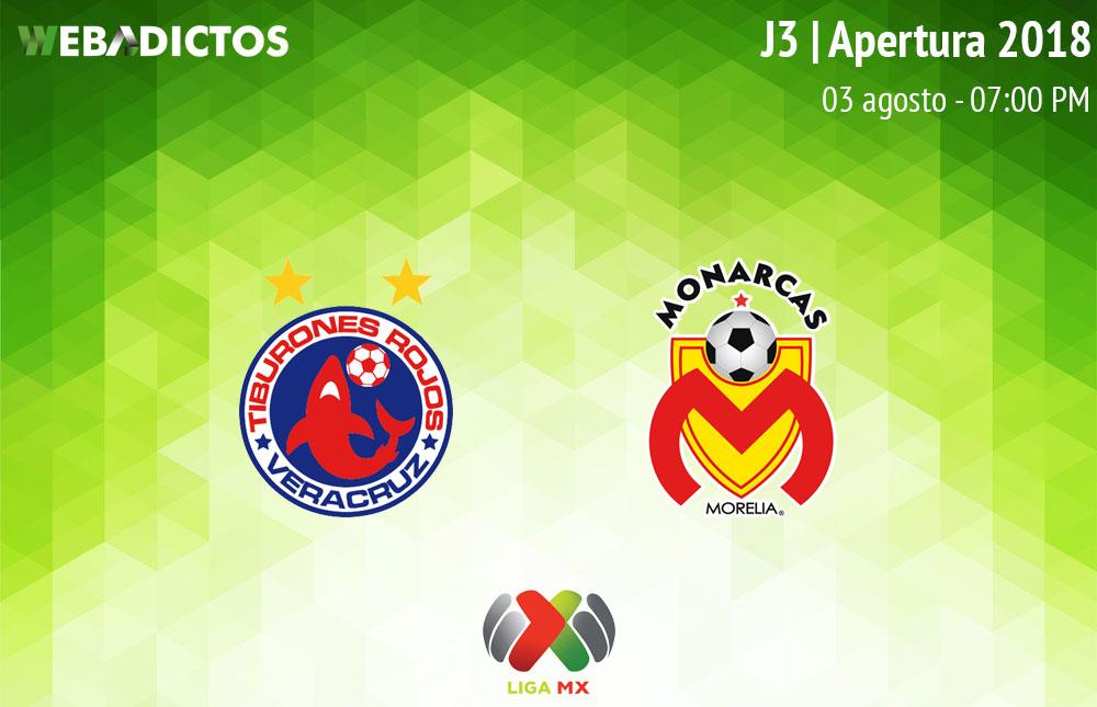 Veracruz vs Morelia en la J3 del Apertura 2018 ¡En vivo por internet! - veracruz-vs-morelia-apertura-2018