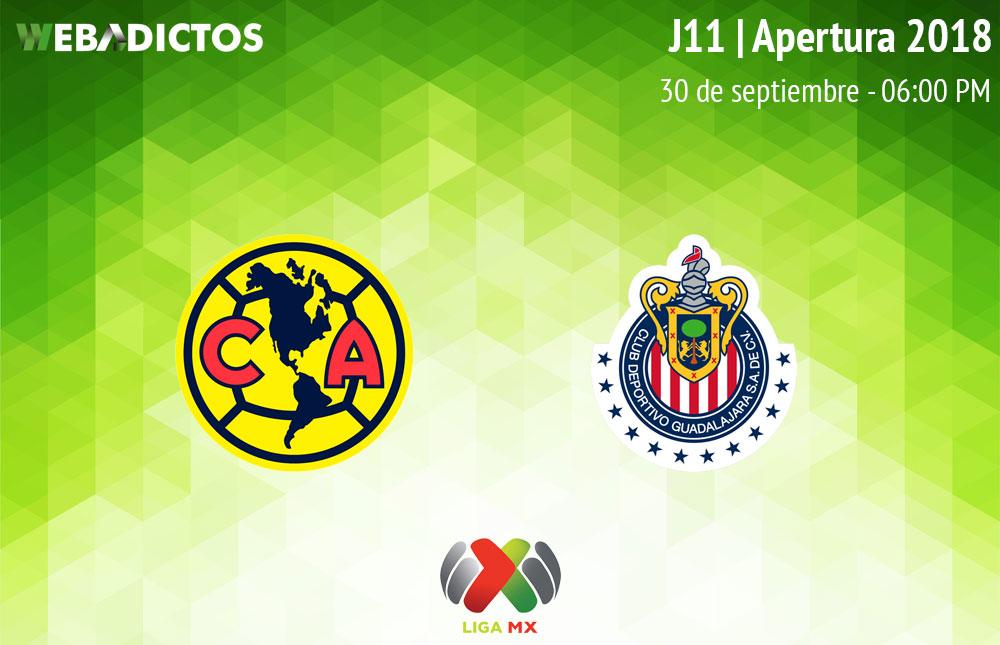 América vs Chivas, Clásico en el Apertura 2018 ¡En vivo por internet! - america-vs-chivas-apertura-2018