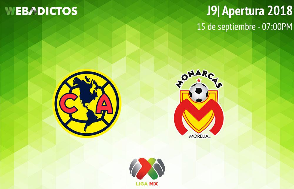 América vs Morelia, J9 del Apertura 2018 ¡En vivo por internet! - america-vs-morelia-apertura-2018