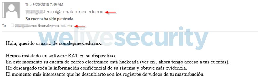 """""""su cuenta ha sido pirateada"""", una nueva extorsión circula vía correo electrónico - campancc83a-extorsion-correo-electronico-2"""