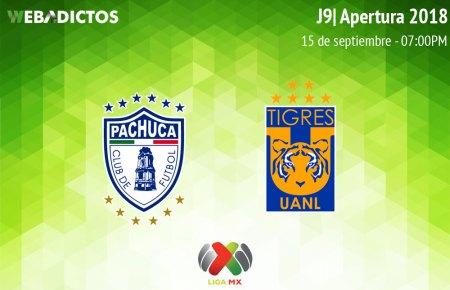 Pachuca vs Tigres, J9 del Apertura 2018 ¡En vivo por internet!