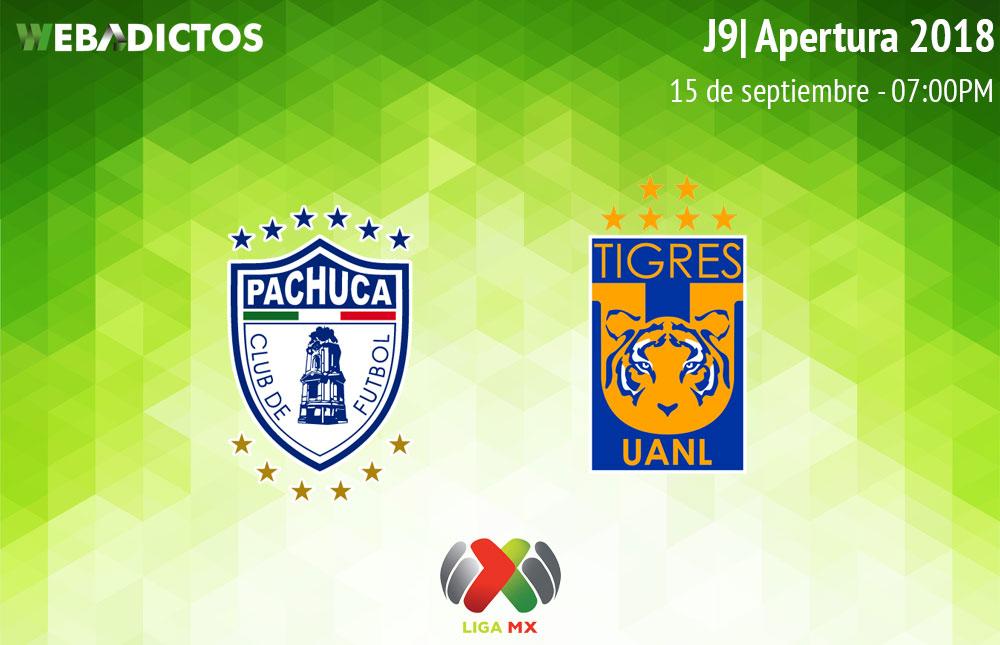 Pachuca vs Tigres, J9 del Apertura 2018 ¡En vivo por internet! - pachuca-vs-tigres-apertura-2018