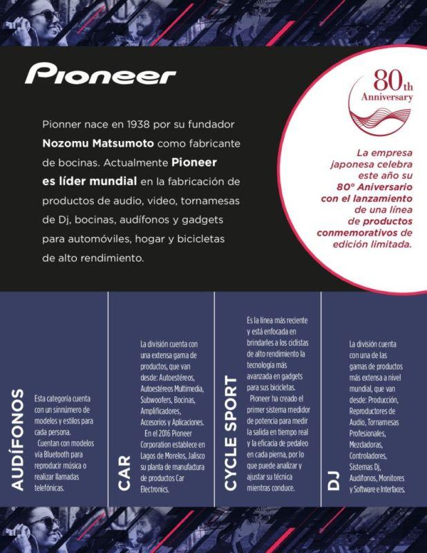 80° aniversario de Pioneer: presenta cuatro nuevas líneas de productos - pioneer-618x800