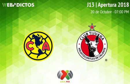 América vs Tijuana, Jornada 13 A2018 ¡En vivo por internet!