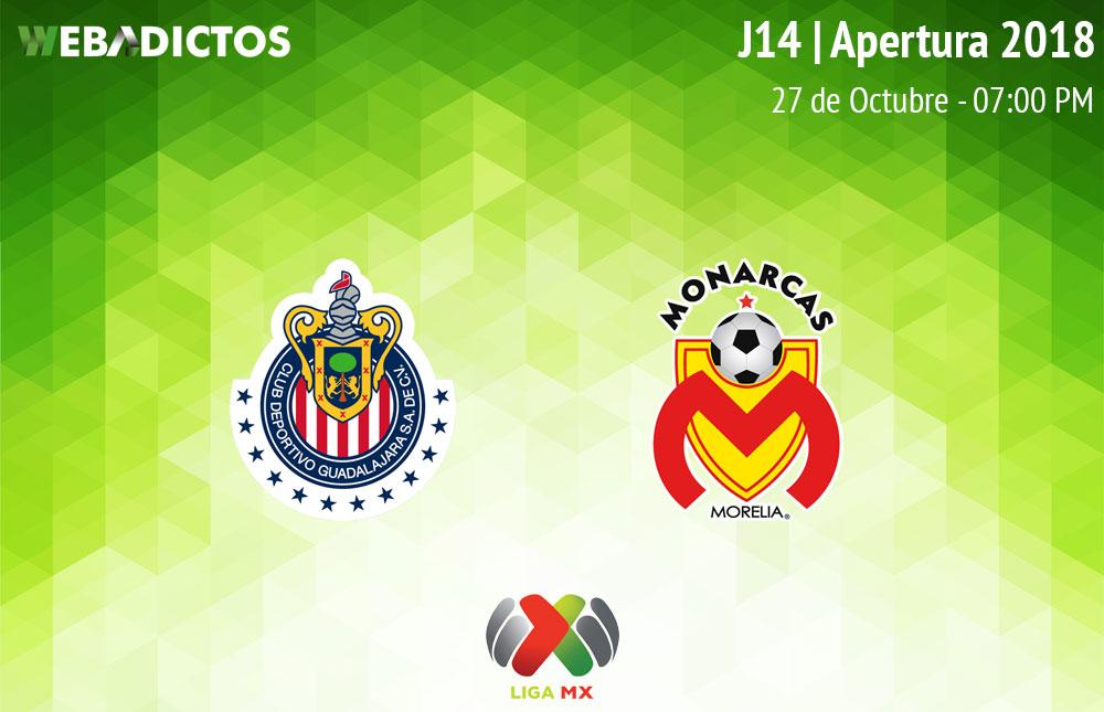 Chivas vs Morelia, Jornada 14 A2018 ¡En vivo por internet! - chivas-vs-morelia-apertura-2018