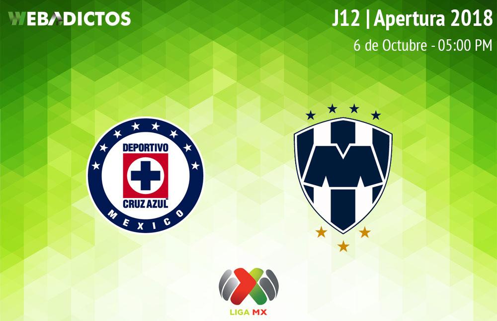 Cruz Azul vs Monterrey, Jornada 12 AP2018 ¡En vivo por internet! - cruz-azul-vs-monterrey-apertura-2018