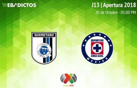 Querétaro vs Cruz Azul, J13 del Apertura 2018 ¡En vivo por internet!