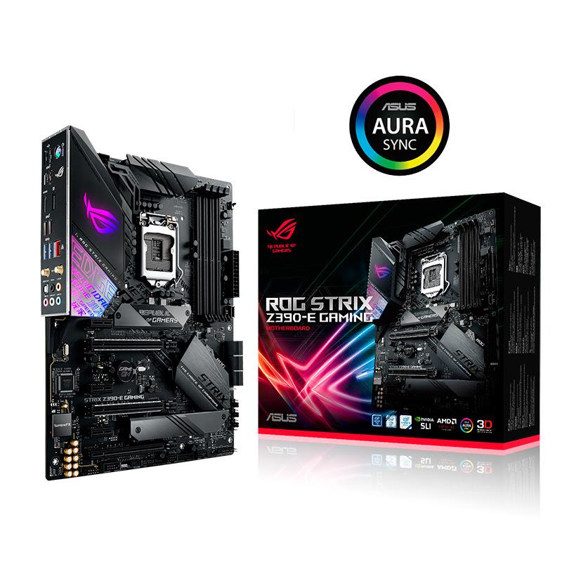 ASUS lanza sus tarjetas madre basadas en el chipset Intel Z390 - rog-strix-z390-e-gaming