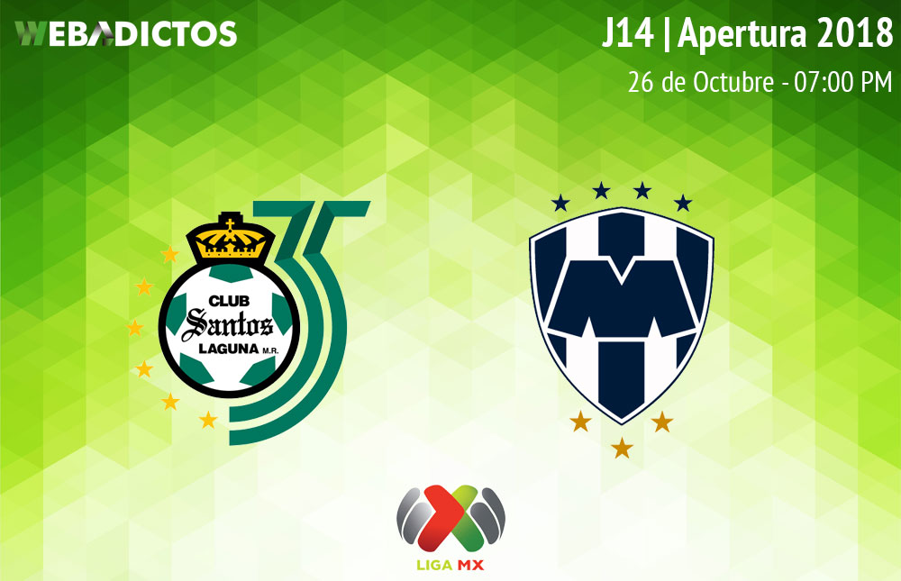 Santos vs Monterrey, Jornada 14 Apertura 2018 ¡En vivo por internet! - santos-vs-monterrey-apertura-2018