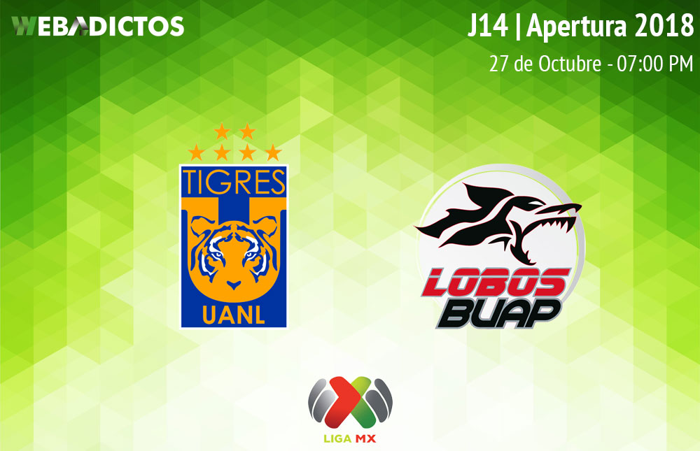 Tigres vs Lobos BUAP, J14 del Apertura 2018 ¡En vivo por internet! - tigres-vs-lobos-buap-apertura-2018
