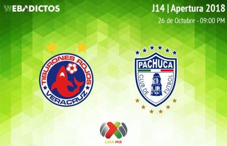 Veracruz vs Pachuca, Jornada 14 del Apertura 2018 ¡En vivo por internet!