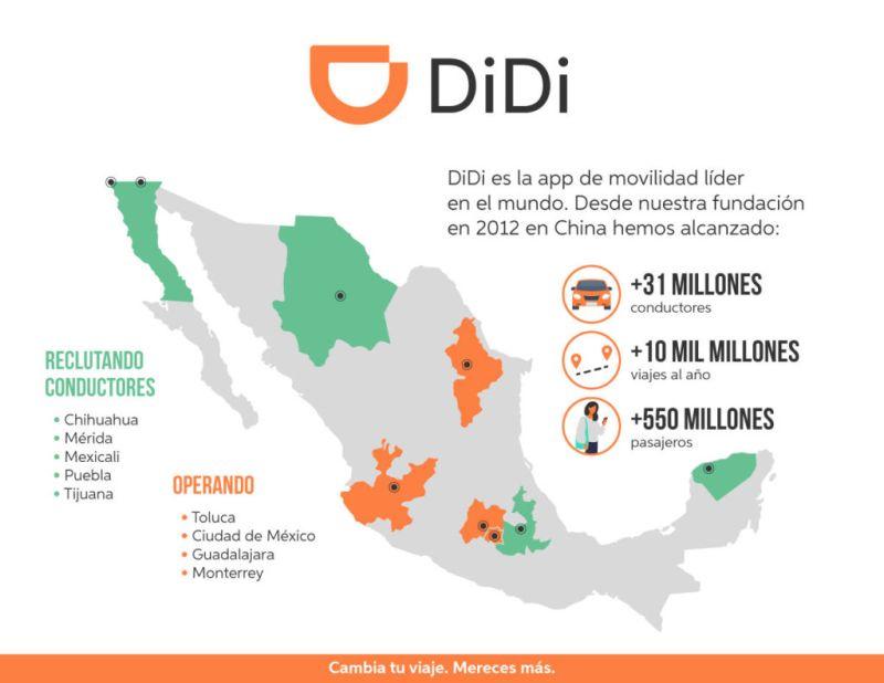DiDi anuncia su llegada a la Ciudad de México ¡conoce sus promociones de lanzamiento! - 2-mapa-didi-en-mexico-800x618