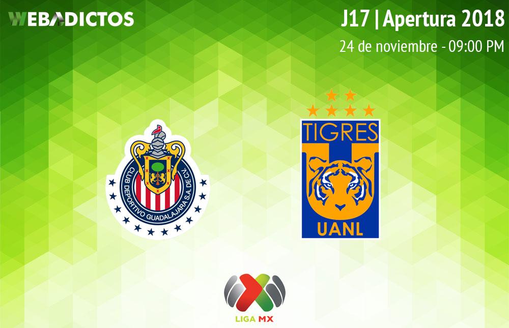 Chivas vs Tigres, J17 del Apertura 2018 ¡En vivo por internet! - chivas-vs-tigres-apertura-2018