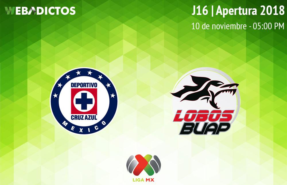 Cruz Azul vs Lobos BUAP, J16 del Apertura 2018 ¡En vivo por internet! - cruz-azul-vs-lobos-buap-apertura-2018