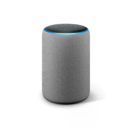 Amazon anuncia la llegada de Amazon Echo, Echo Plus, Echo Dot y Echo Spot a México - echo-plus-heather-gray-front-on-450x450