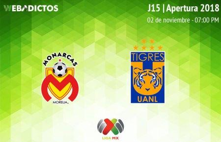 Morelia vs Tigres, Jornada 15 del Apertura 2018 ¡En vivo por internet!