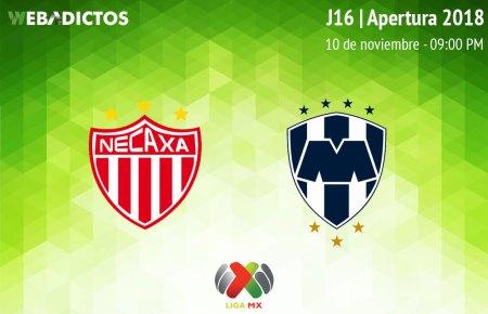 Necaxa vs Monterrey, Jornada 16 Apertura 2018 ¡En vivo por internet!
