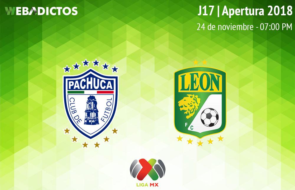 Pachuca vs León, Jornada 17 Apertura 2018 ¡En vivo por internet! - pachuca-vs-leon-apertura-2018