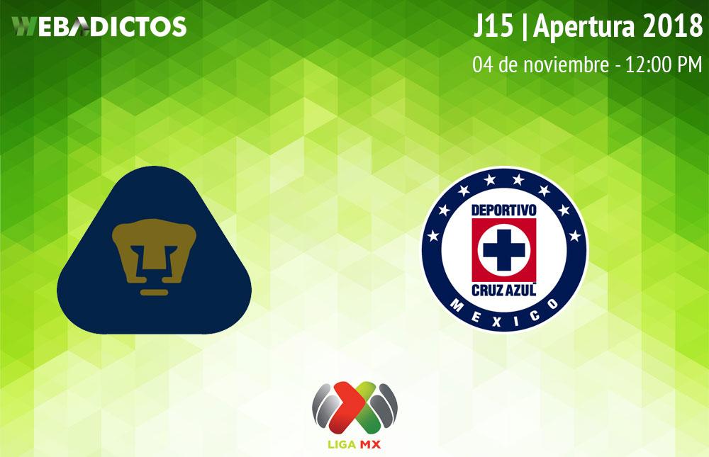 Pumas vs Cruz Azul, J15 del Apertura 2018 ¡En vivo por internet! - pumas-vs-cruz-azul-apertura-2018