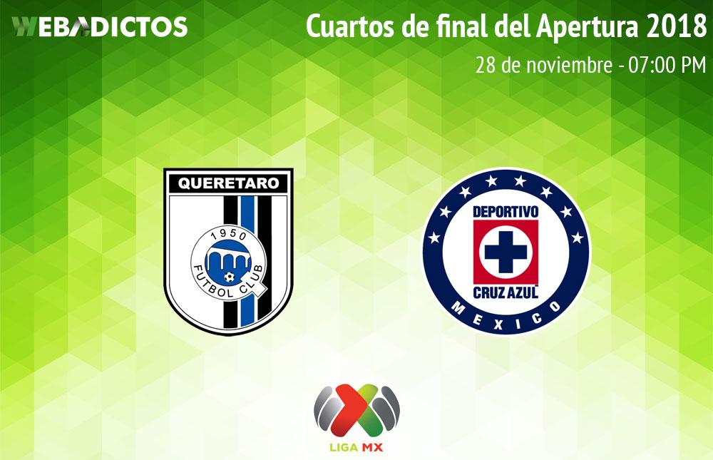 Querétaro vs Cruz Azul, Liguilla de Liga MX A2018 ¡En vivo por internet!   Ida - queretaro-vs-cruz-azul-liguilla-liga-mx-a2018