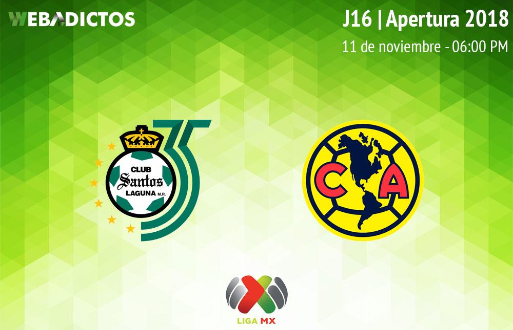 Santos vs América, Jornada 16 Apertura 2018 ¡En vivo por internet! - santos-vs-america-apertura-2018