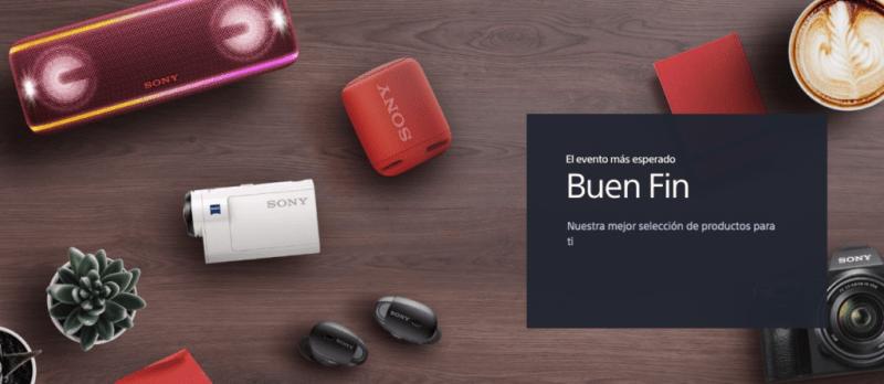 Cámaras, pantallas, barras de audio y más de Sony presentes en El Buen Fin 2018 - sony-buen-fin-800x348